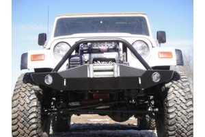 LOD Signature Series Full Width Front Bumper w/Bull Bar Black Powder Coated (Part Number: )
