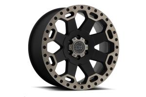 Black Rhino Warlord Wheel 17x9 5x5 Matte Black w/Dark Tint Lip (Part Number: )