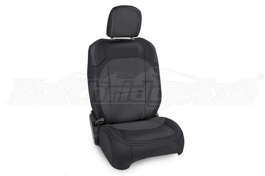 PRP Front Seat Covers w/Pocket, Pair, Black/Grey - JL 2dr Non Rubicon