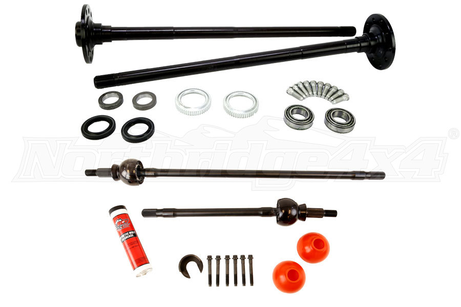 RCV FRONT AND TEN FACTORY REAR JK RUBICON AXLE SHAFT PACKAGE (Part Number:NT-REAR-RUBICON-AXLE-PKG)