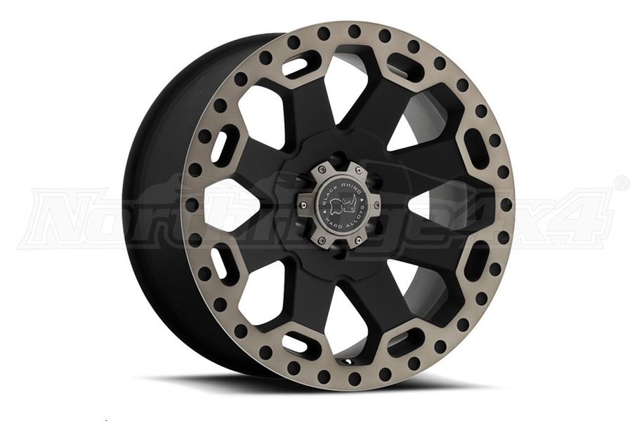 Black Rhino Warlord Wheel 17x9 5x5 Matte Black w/Dark Tint Lip (Part Number:1790WAR-25127M71)