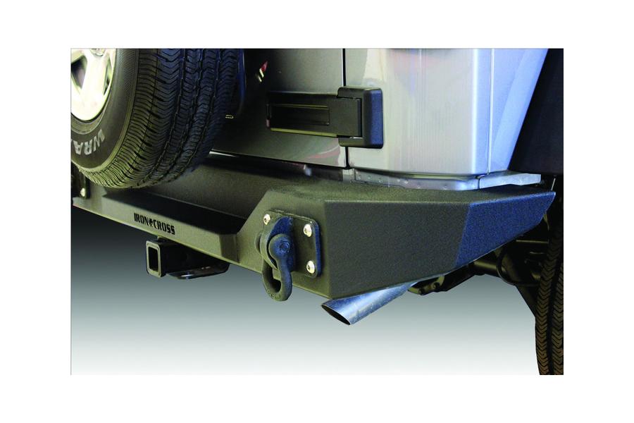 Iron Cross Full-Width Rear Bumper - No Tire Carrier - JK