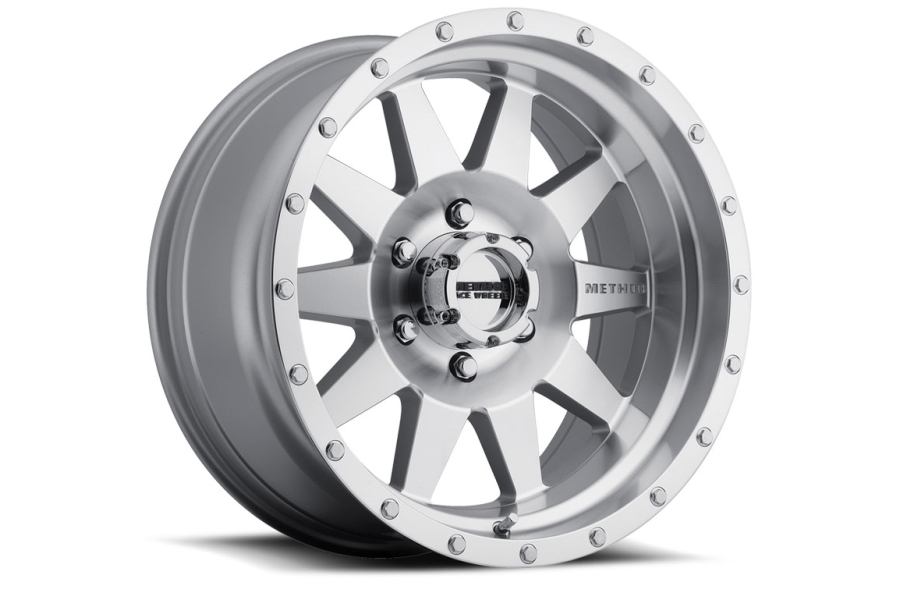 Method Race Wheel The Standard 301 17x8.5 Wheel Silver Machined w/Machined Lip (Part Number:MR30178550300)