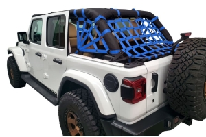 Dirty Dog 4x4 Netting Kit Spider Sides 3pc Blue - JL 4dr