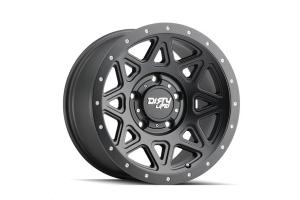 Wheel-1 Dirty Life 9305 Theory Series Wheel, Matte Black 20X9 5x5  - JT/JL/JK