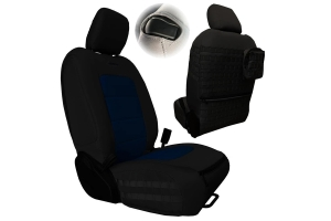 Bartact Tactical Series Front Seat Covers, SRS Air Bag and Non-Compliant - Black/Navy  - JL 2Dr