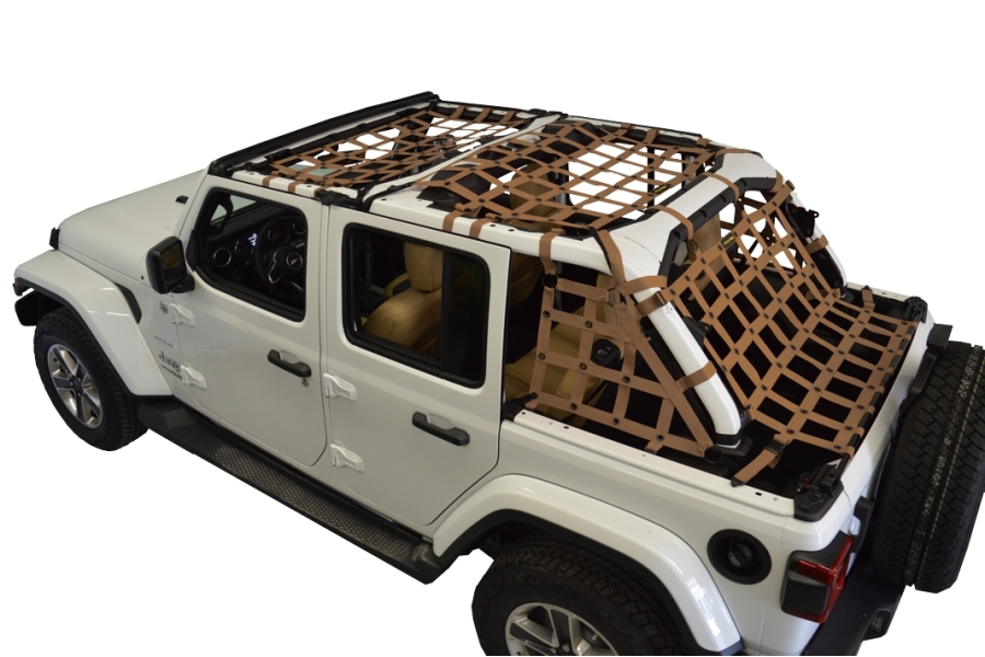 Dirty Dog 4x4 5pc Cargo Side Netting Kit, Sand - JL 4Dr