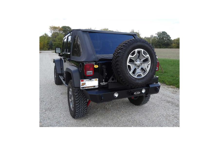 LOD Signature Series Gen 4 Armor-Lite Shorty Door Linked Rear Bumper w/Tire Carrier, Black ( Part Number: JBC0771)