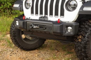 Rugged Ridge Spartacus Stubby Front Bumper, Black  - JT/JL
