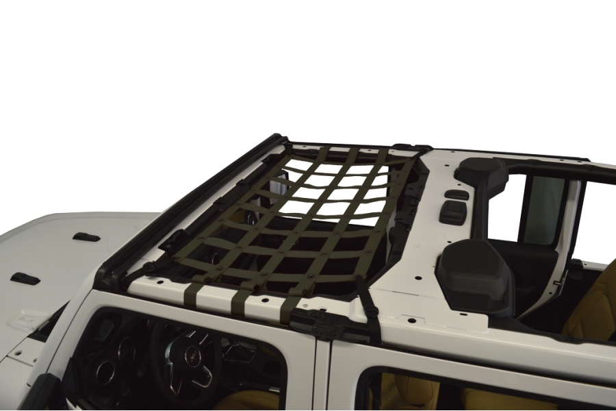 Dirty Dog 4x4 Front Seat Netting, Olive Drab Green - JL 4Dr
