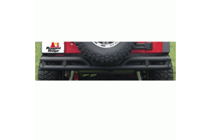 Rugged Ridge Rear Tube Bumper Textured Black - JK