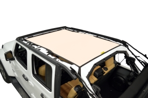 Dirty Dog 4x4 Sun Screen Safari length - Sand - JL 4DR