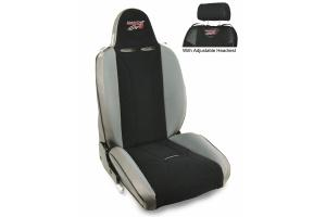 MasterCraft Baja RS DirtSport Reclining Seat w/Adj. Headrest & BRS Stitching - Smoke/Black/Gray