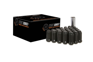 West Coast 8 Lug 14x2.0 Closed End Lug Nuts, Black 32 pieces