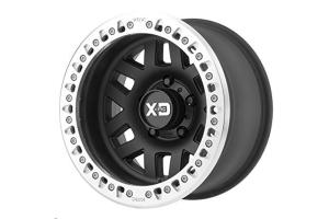 KMC Wheels XD229 Machete Beadlock Satin Black Wheel, 17X9 8x170 (Part Number: )
