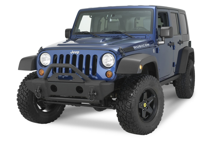 Rampage Products Front Stubby Recovery Bumper, Matte Black - JL / JK