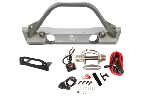 Poison Spyder Brawler Lite Front Bumper and Warn Winch M8000-S Package ( Part Number: WRNPKG-1)