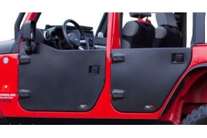 Rugged Ridge Rear Half Doors Matte Black - JK 4dr