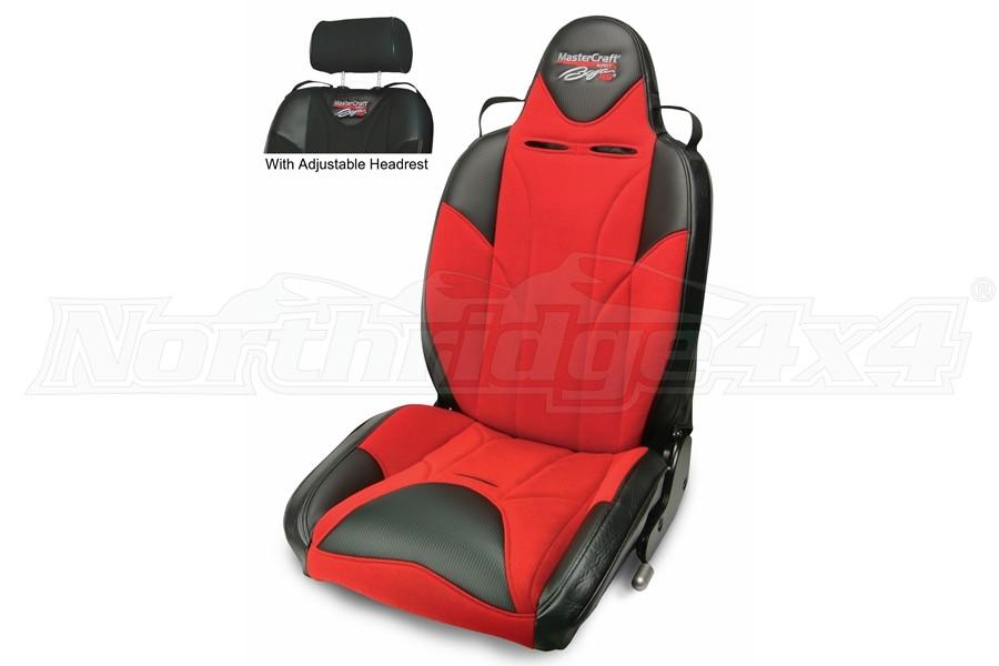 MasterCraft Baja RS DirtSport Reclining Seat w. Adj. Headrest -Black/Red/Red
