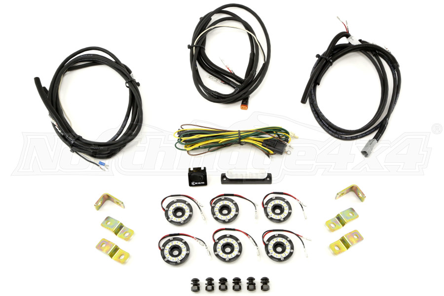 KC Hilites Rock Light Kit, 6 Lights, Clear (Part Number:91025)