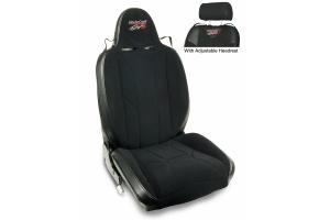 MasterCraft Baja RS DirtSport Reclining Seat w/Adj. Headrest & BRS Stitching - Black/Black/Black