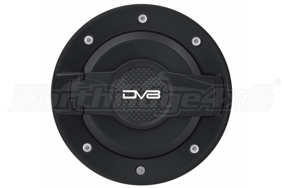 DV8 Offroad Fuel Door Assembly - Black - JK