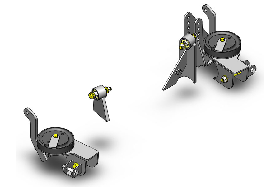 Clayton Front axle bracket kit W/adj track bar mount (Part Number:1100230)