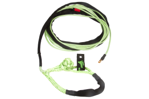 VooDoo Offroad Winch Line with Soft Shackle End 3/8in x 80ft Green