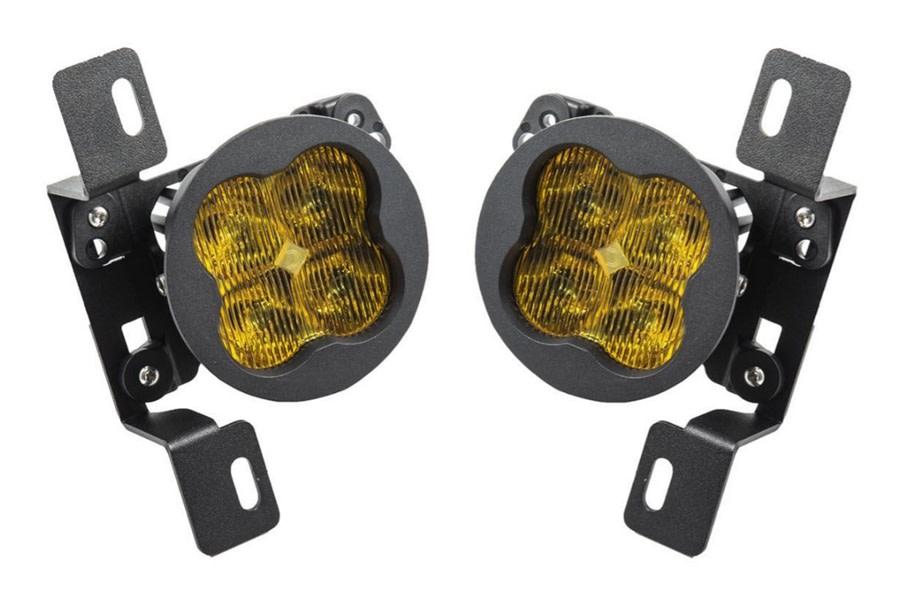 Diode Dynamics SS3 Sport LED Fog Light Kit, Yellow - Pair - JT Rubicon