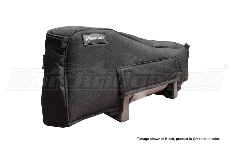 Bartact Winch Cover for Warn XD9000 Winch, Fabric Graphite