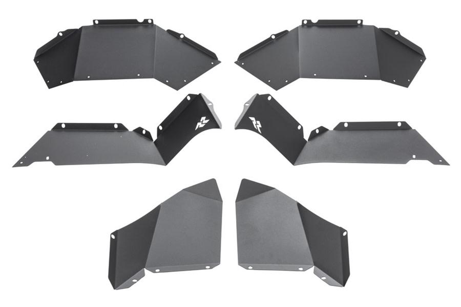 Rugged Ridge Rear Aluminum Inner Fender Liners - Black - JL