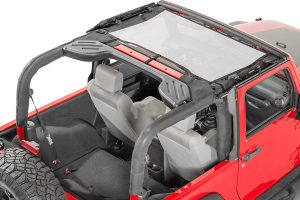 Dirty Dog 4x4 Front Seat Sun Screen White (Part Number: )