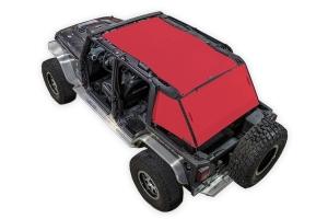 SpiderWebShade 2-Piece ShadeCage System - Red - JK 4Dr