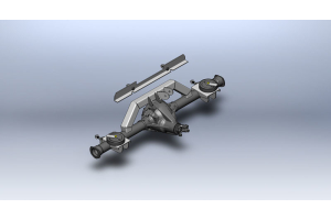 Clayton Rear Axle Bracket Kit w/Shock Kit (Part Number: )