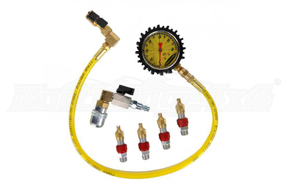 Powertank Monster 4 Valve Kit w/Pressure Gauge (Part Number:MON-8130)