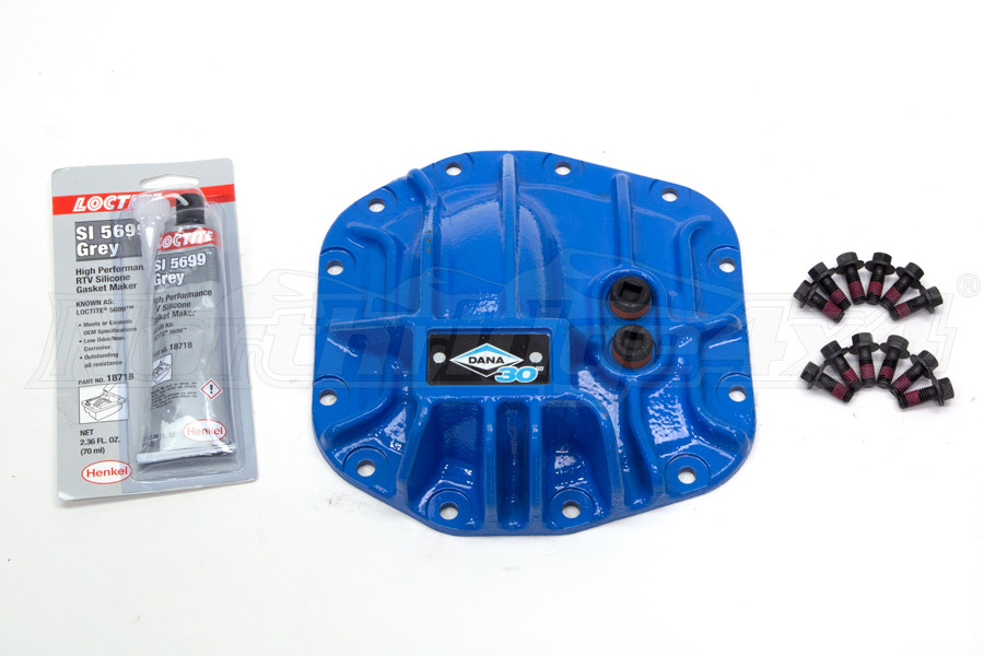 Dana 30 Front Differential Cover Kit Blue - JL
