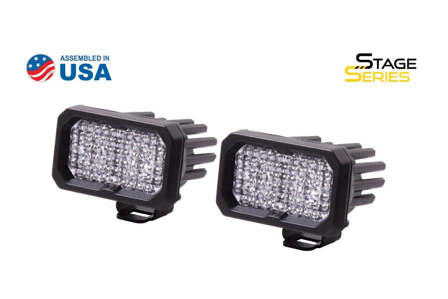 Diode Dynamics SSC2 2in Pro Standard Flood Light RBL, Pair