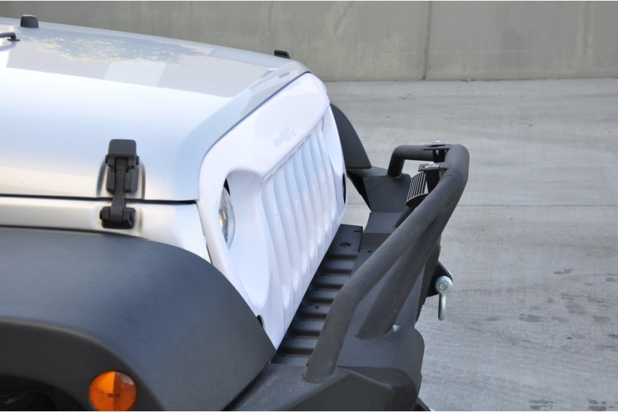 DV8 Offroad ABS Angry Eye Style Grill White Paintable  (Part Number:GRABW07)