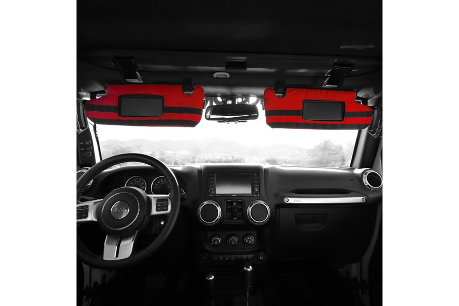 Bartact PALS MOLLE Visor Covers for Visors w/ Mirrors - Red - JK