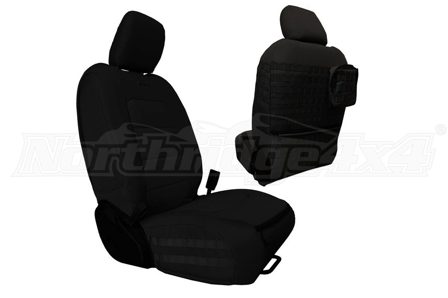 Bartact Tactical Series Front Seat Covers - Black/Black - JT