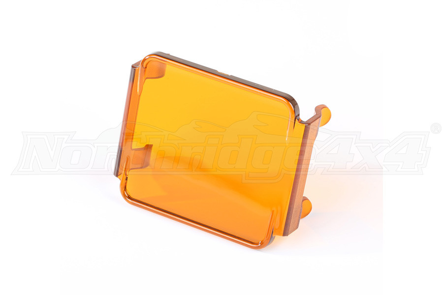 Rugged Ridge 3 Inch Square LED Light Cover, Amber (Part Number:15210.67)