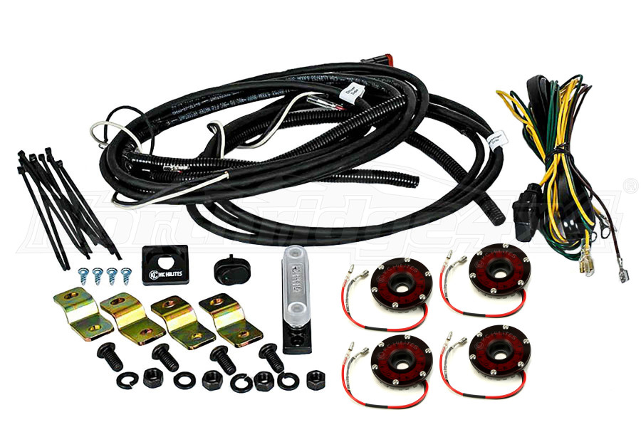 KC Hilites Rock Light Kit, 4 Lights, Red (Part Number:91022)
