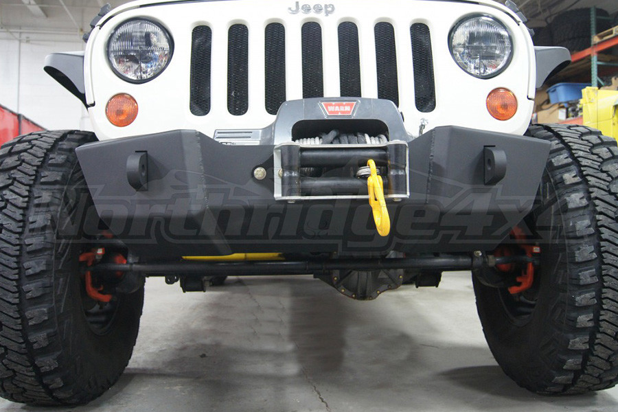 Nemesis Industries Triumph Front Bumper w/ Winch Plate Centered Drum - Texture Black Powder Coating (Part Number:121312-2)