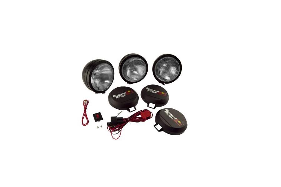 Rugged Ridge HID Fog Light Kit 6in Black