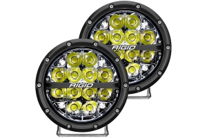 Rigid Industries 360-Series 6in LED Off-Road Spot Fog Lights, White - Pair