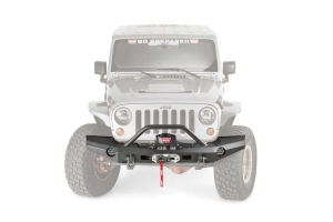 Warn Elite Series Full Width Front Bumper w/Bull Bar - JK