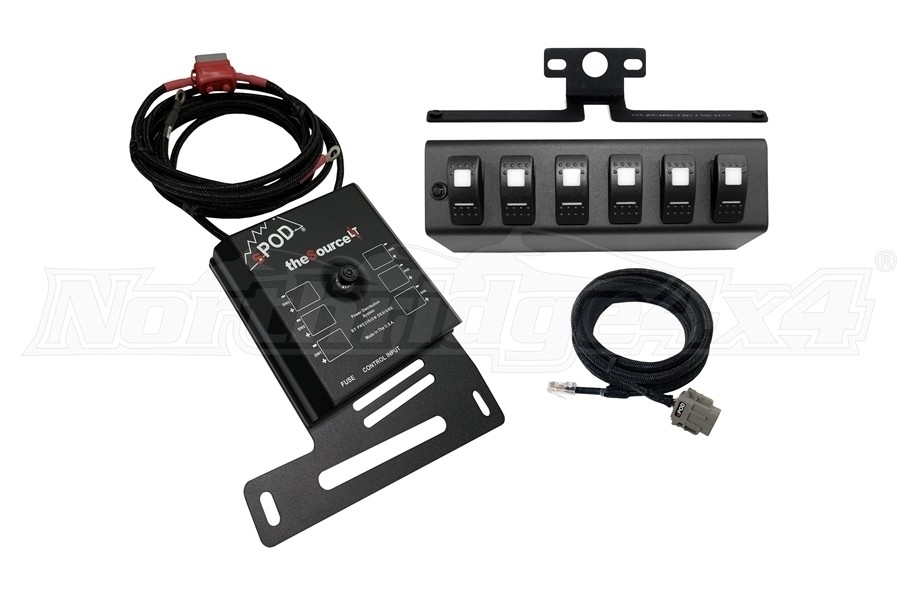 sPOD Source LT w/ LED Switch Panel - Red - JK 2007-08