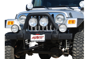 MBRP Front Light Bar/Grill Guard System Black Coated - TJ/LJ