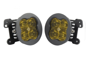 Diode Dynamics SS3 Sport LED Fog Light Kit, Yellow - Pair - JT OverLand/Rubicon w/ Plastic Bumper
