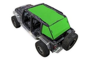 SpiderWebShade 2-Piece ShadeCage System - Green - JK 4Dr